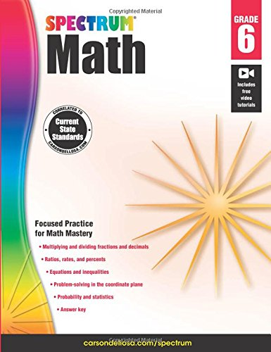 Spectrum Math Workbook, Grade 6 cover