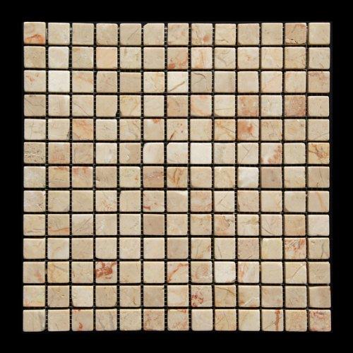 Rosalia 1X1 Marble Tumbled Mosaic Tile