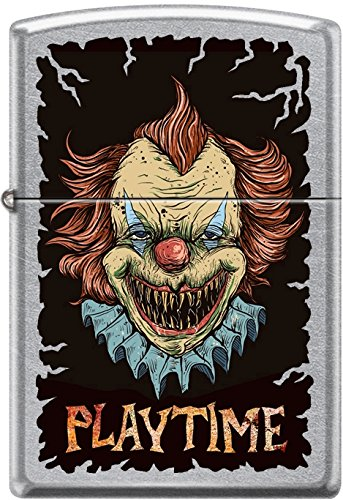 Zippo Killer Clown Playtime Street Chrome WindProof Lighter NEW Rare