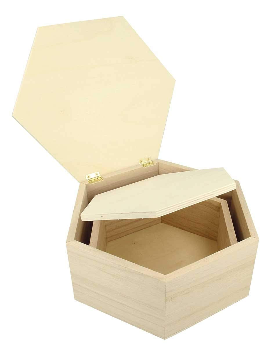 Artemio scatole impilabili, legno, Beige, 22x 9x 19cm Artémio 14002311
