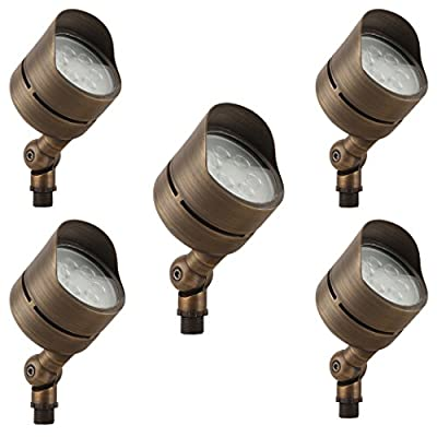 LFU Solid Brass Constructed Built-in LED Spot Up Flood Light. Low Voltage.