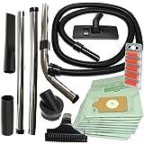 Vacspare 32 mm-Kit d'accessoires pour aspirateur Numatic Henry Flexible extensible, avec brosse pour escalier, Homespares Boîte de 2 désodorisants pour aspirateur avec 10 sacs
