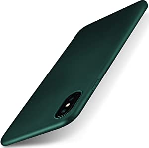 X-level for iPhone Xs Case/iPhone X Case, Slim Fit Soft TPU Matte Surface Ultra Thin Light Full Protective Back Cover Compatible Apple iPhone Xs (2018) / Apple iPhone X (2017)5.8 inch- Midnight Green