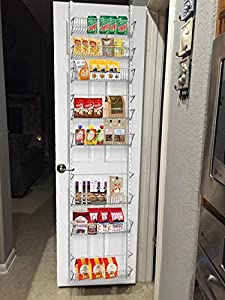 Amazon Com 3 Over The Door Pantry Spice And Jar Rack