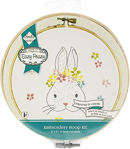 Needle Creations NC-EP-ICON EazyPeazy Hoop Kit 6″ Bunny None