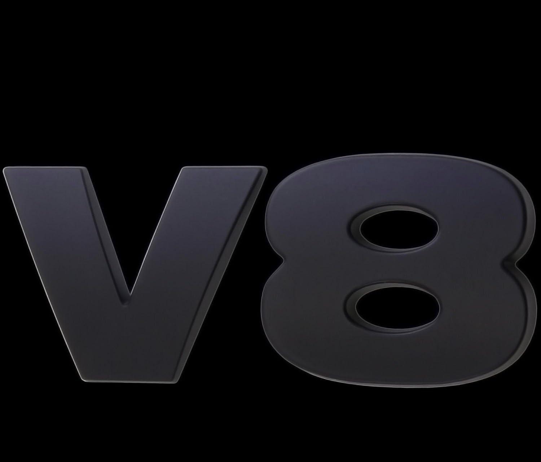 3d Matt Schwarz Emblem Aufkleber Logo V8 Ventile Tuning Motor Renn Sport L104 Auto