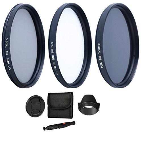 55 mm Filterset: inkl UV-Filter Slim, Polfilter zirkular slim, Neutral Graufilter ND4 Filter für Sony Alpha 7, 7B, 7KB, Alpha 7 II, 7R Systemkamera - Sony ILCA Alpha 77 IIQ, 77 II, A77V, A77VQ, Alpha SLT A99V, 68 A-Mount, A65V, A65VL, A58Y, A58K, A57, A57K, A55V, A55VL, A35, A33 SLR-Digitalkamera (55mm Filtergewinde)