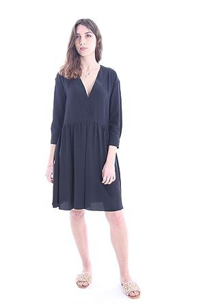sale retailer f0c8d 3340f ASPESI ABITO IN SETA NERO, Donna, Taglia 42.: Amazon.it ...