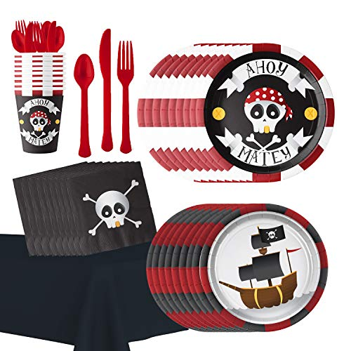 Pirate Themed Birthday Party Supplies: Hold the Balloon Ahoy Matey Party Accessories and Decorations -