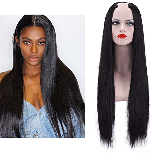 SARLA Half Wig Straight For Black Women Clip in Hair Extension 28