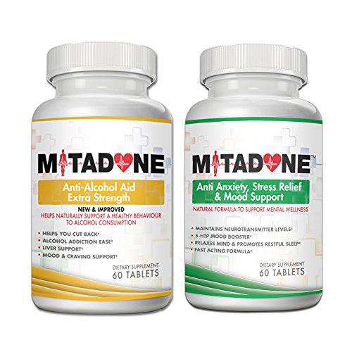 Mitadone Anti-Alcohol Aid & Anxiety/Stress/Mood Support