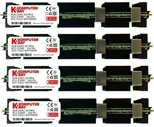 Komputerbay 32GB (4x 8GB) DDR2 PC2-5300F 667MHz CL5 ECC Fully Buffered FB-DIMM (240 PIN) w/ Apple Heatspreaders FOR MAC PRO - Pro Ddr2 667 Fully Buffered