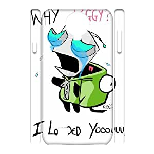 LTTcase Custom Invander Zim 3D Case for samsung galaxy s4 i9500