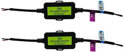 KOOMTOOM Canbus D/écodeur 9005 HB3 9006 HB4 9012 HIR2 Anti-Scintillement Harnais R/ésistance Avertissement de Scintillement Dampoule de Phare Led EMC D/écodeur Dannulation