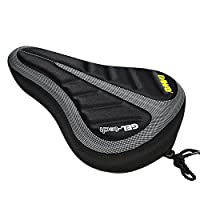 DAWAY A33 Gel Bicycle/Bike Saddle Seat Cushion Pad Cover, Silicone & Memory Foam Padded, Extra Soft Comfortable