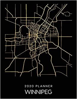 Winnepeg Canada Calendar Map 2020 Planner Winnipeg: Weekly   Dated With To Do Notes And