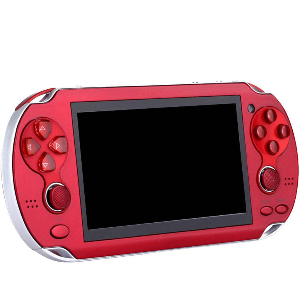 Huangou PSP Games,Retro Classic Game Console Handheld Portable 800 Built-in 4.3 Inch Games (Red, 11.5 x 8.5 x 9cm) by Huangou (Image #1)