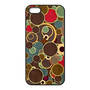 Simple cartoon circle pattern Phone Case for iPhone 5S(TPU)
