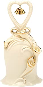 Appletree Design 25th Anniversary Ivory Calla Lilies Bell, 5-Inch Tall, Includes Clapper