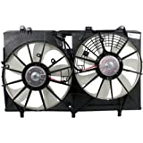 MAPM Premium RX350 10-15/SIENNA 11-16 RADIATOR FAN SHROUD ASSEMBLY, Dual Fan, w/ Towing Pkg.