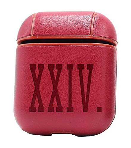 XXIV (Vintage Pink) Air Pods Protective Leather Case Cover - a New Class of Luxury to Your AirPods - Premium PU Leather and Handmade exquisitely by Master Craftsmen