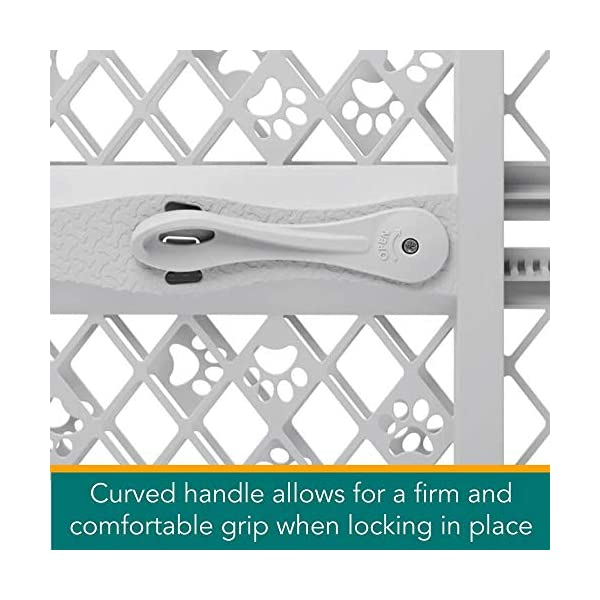 "North States Mypet Paws 40"" Portable Pet Gate: Expands & Locks In Place with No Tools. Pressure Mount. Fits 26""- 40"" Wide (23"" Tall, Light Gray) 2"