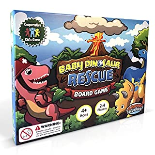 New Baby Dinosaur Rescue Board Game #1 Kids Cooperative Dinosaur Game for Kids Ages 4 to 8 - Teach Children New Skills While Having Fun - Learning Board Games That Teaches Friends to Play Together!