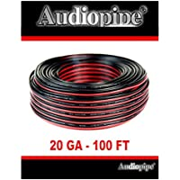 Audiopipe 100 Feet 20 GA Gauge Red Black 2 Conductor Speaker Wire Audio Cable