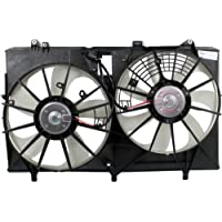 MAPM Premium RX350 10-15/SIENNA 11-16 RADIATOR FAN SHROUD ASSEMBLY, Dual Fan, w/ Towing Pkg.