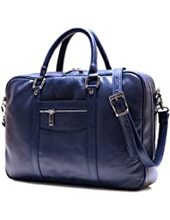 Floto Toscana Slim Navy Blue Briefcase Attache Lap-top Case