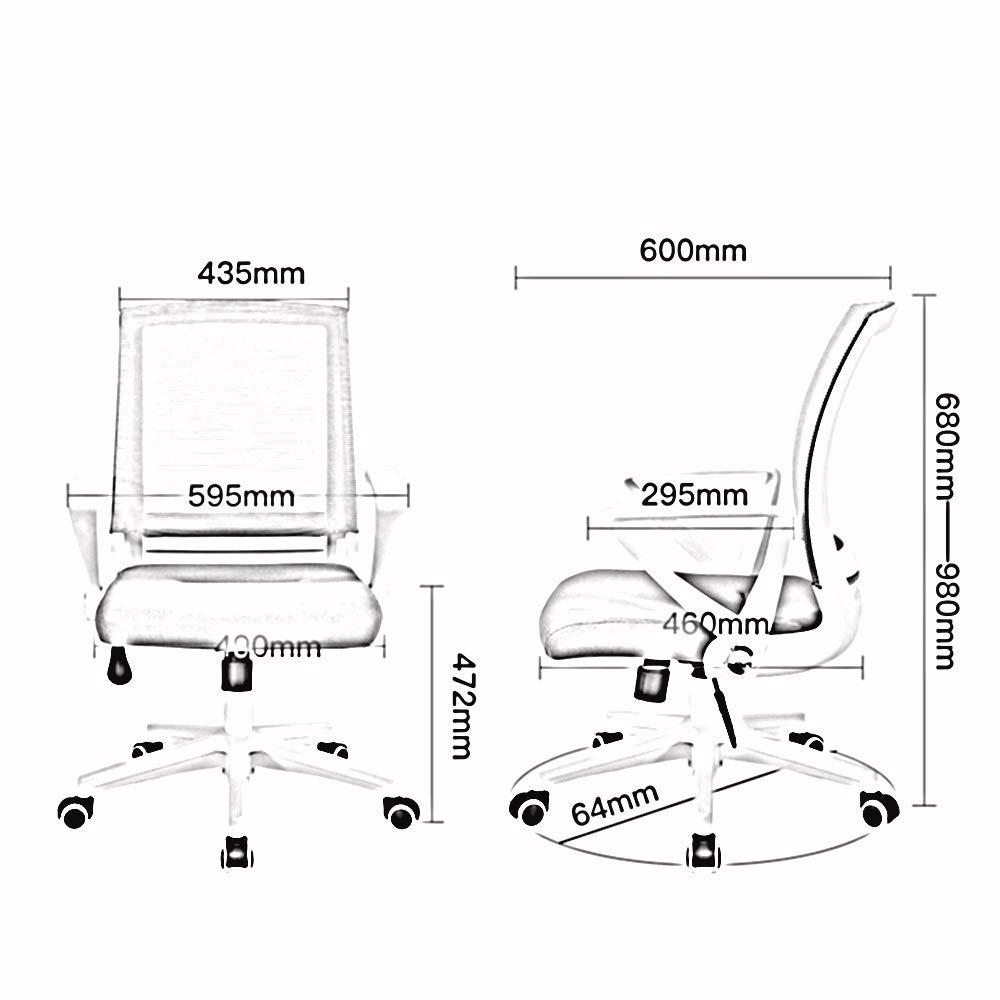 ZZHZY vridstol mesh hushåll datorstol, student lärande stol skrivbord stol fritid företag kontor vridstol lyftstol nylon fötter fåtöljer (färg: Style 3) Stil 3