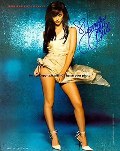 Jennifer Love Hewitt Autographed Preprint Leggy Upskirt Signed 11x14 Poster Photo (Best Celebrity Upskirt Photos)