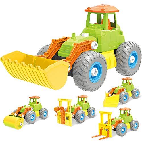 PBOX-69-Pcs, 5-in-1 Building Construction Set, Toddler Building Truck Kit, STEM Educational Engineering Building Blocks Kit Toys