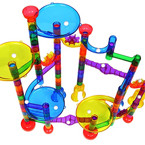 AFALA Marble Run Set 122 Pcs Marble STEM Toys,Marble Game Learning Educational Construction Building Blocks for Kids by AFALA (Image #1)
