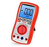 Pyle-Meters PDMT38 Digital LCD AC, DC, Volt, Current, Resistance, Range Multimeter with Rubber Case, Test Leads and Stand