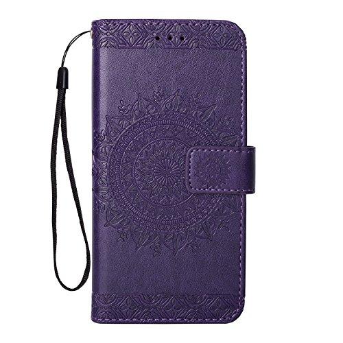Galaxy J7 V / J7 2017 / J7 Prime / J7 Perx / J7 Sky Pro / Galaxy Halo Case, KMISS [Shock Absorbent] PU Leather Kickstand Wallet Cover Durable Flip Case (Violet) - Inspiron 7000 Specifications