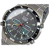 エルジン ELGIN ソーラー 電波 メンズ チタン ワールドタイム 腕時計 FK1397TI-BP