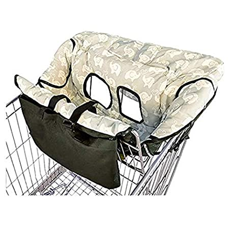 100 Percent Shopping Cart Cover Luerme High Chair Cover Ultra Plush Seat Pad