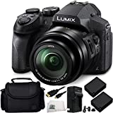Panasonic Lumix DMC-FZ300 Digital Camera 8PC Accessory Kit Includes 2 Replacement BLC-12 Batteries, AC/DC Rapid Home & Travel Charger & MORE - International Version (No Warranty)
