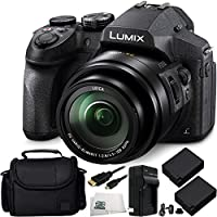Panasonic Lumix DMC-FZ300 Digital Camera 8PC Accessory Kit. Includes 2 Replacement BLC-12 Batteries + AC/DC Rapid Home & Travel Charger + Micro HDMI Cable + Carrying Case + Microfiber Cleaning Cloth At A Glance Review Image