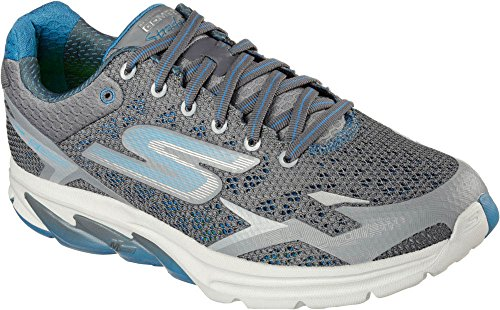 Skechers Mens Go Meb Strada 2 Breathable Cushioned Track Running Shoes gris/azul