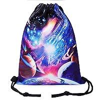 TUONROAD Printed Drawstring Backpack Sports Gym Cinch Sack Bag for Men Women
