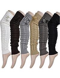 Luckystaryuan ® Cyber Monday Women Set of 2 Over Knee Leg Warmer