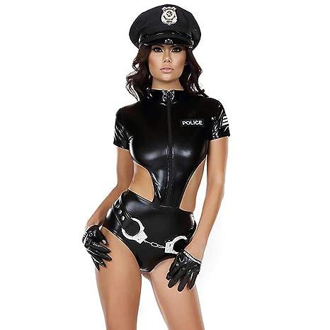 Zangaiyizu Traje Disfraz Policía para Mujeres Mujer Policía Gorro ...