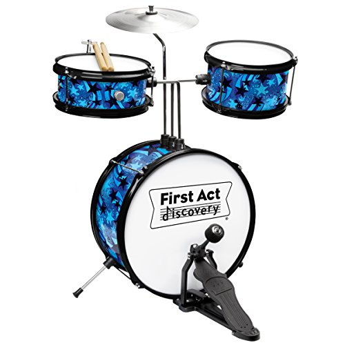 First Act Discovery Blue Swirls Stars Designer Drum Set, FD5057