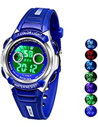 Multi Coloured Lights Time Teacher Watch for Boys Digital...