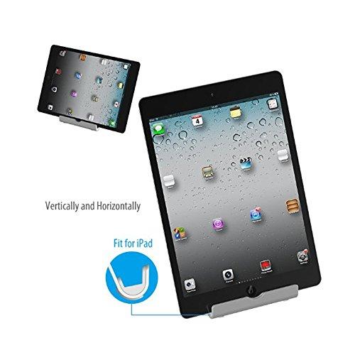 frixie (TM) Multi-Angle Supporto Tablet supporto portatile regolabile in alluminio per iPhone, iPad, Samsung Galaxy Tablet e-reader Smartphone