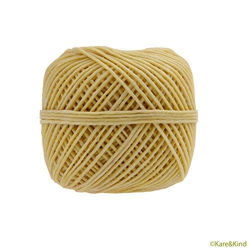 Kare-Kind-Organic-Hemp-Wick-Bee-Line-HempWick-200-FT-10mm-100-natural-HempWick-No-Cotton-No-Lead