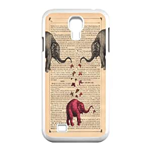 Big elephant art Pattern Hard Case Cover for For Samsung Galaxy Case S4 FKGZ423046