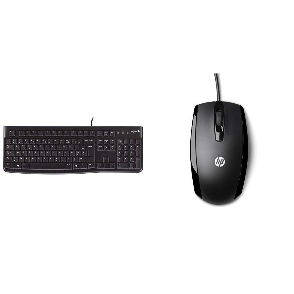 NOIR Noir /& Kingston DT100G3//16GB DataTraveler 100 G3 Logitech Keyboard K120 Clavier AZERTY USB 16 GB 3.1 Flash Drive USB 3.0